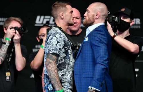 Dustin Poirier (izq.) y Conor McGregor pelearán de nuevo.  Foto: AP