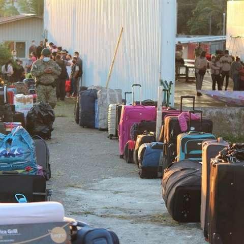 Migrantes nicaragüenses regresan a casa