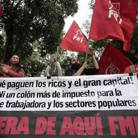 Protestas por el alza de impuestos en Costa Rica