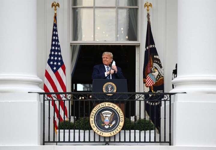 """""""Me siento muy bien"""", dice Trump en primer acto tras positivo por COVID-19"""