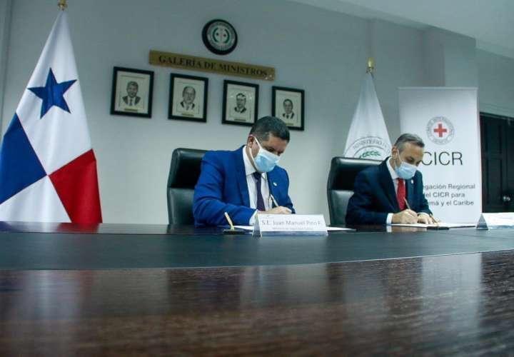 Ministerio de Seguridad y Cruz Roja Internacional firman acuerdo de cooperación