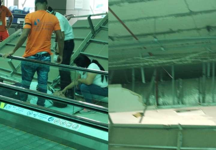 Se desprende parte del techo del Aeropuerto de Tocumen; hay un herido