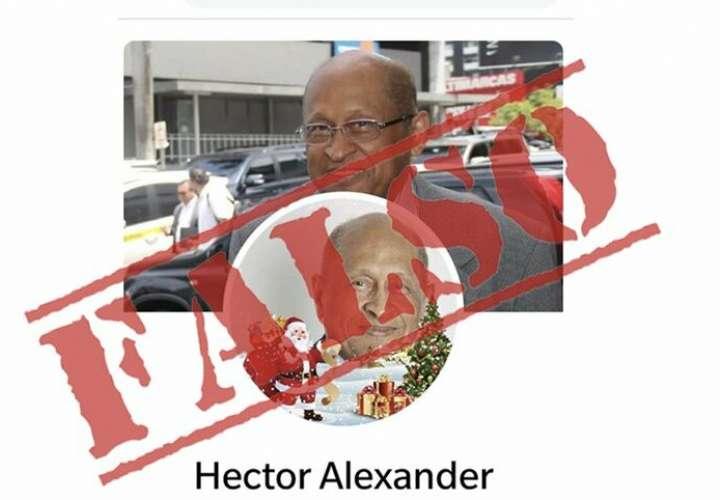Crean cuenta falsa del ministro Héctor Alexander en Facebook