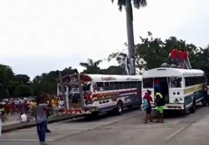 """Inician investigación por desorde en buses """"diablos rojos"""" en Amador"""