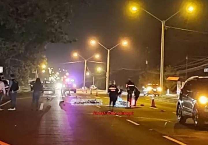 Murió arrollado en la vía Panamericana