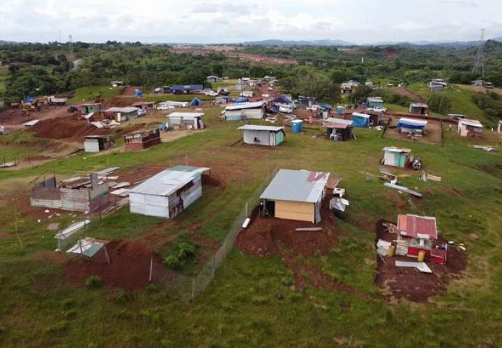 Vista general del asentamiento informal, ubicado en el corregimiento de Herrera, a donde ocurrió el suceso.