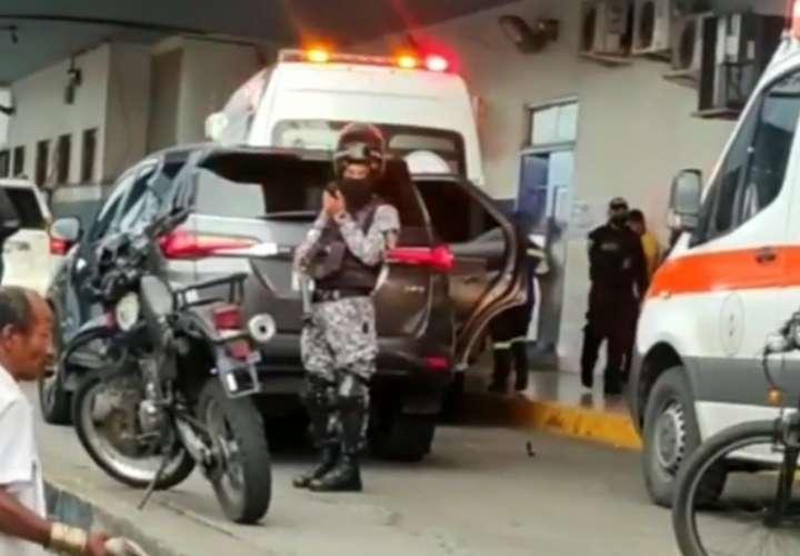 La víctima fatal fue trasladada al hospital Manuel Amador Guerrero, pero no sobrevivió.