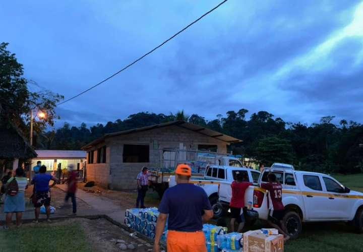 Continúa la entrega de ayuda humanitaria a familias afectadas por lluvias