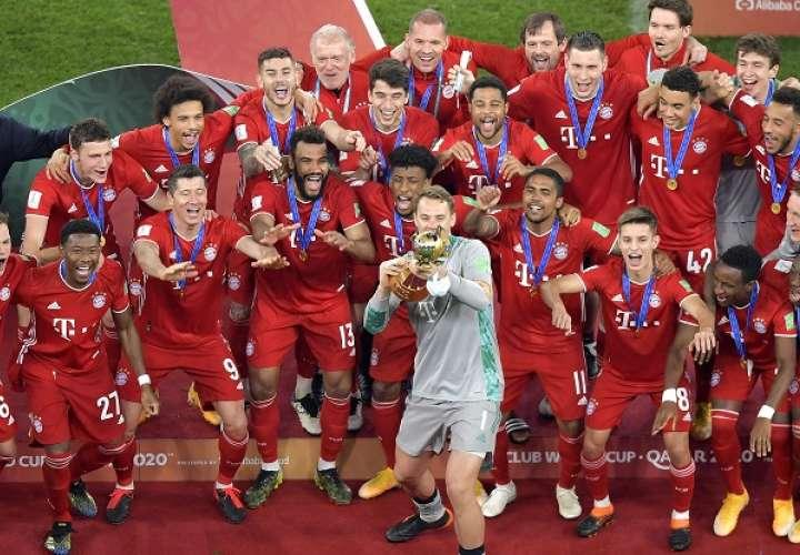 Bayern Munich celebra su nueva conquista. /EFE