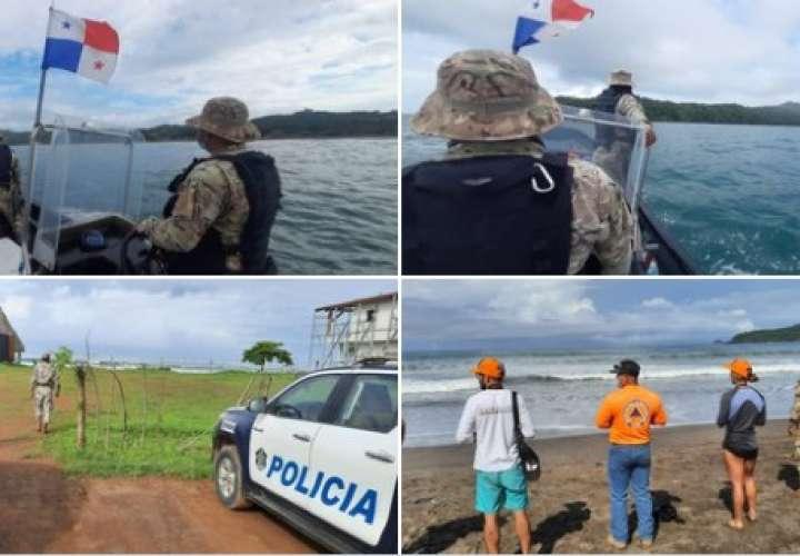 Buscan a ciudadano reportado como desaparecido en playa de Pedasí