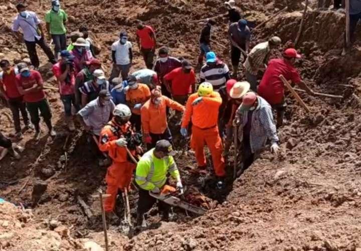 Reinician búsqueda de desaparecidos en la comarca, víctimas de huracán Eta