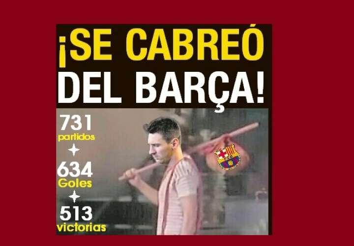 ¡SE CABREÓ DEL BARÇA! Messi se quiere ir gratis...