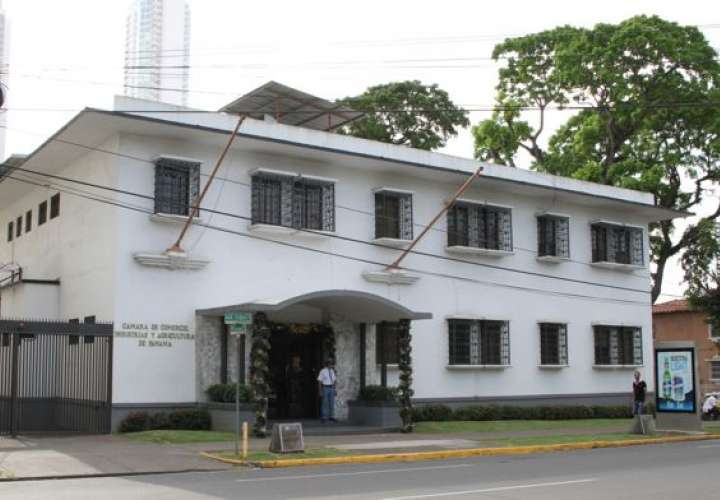 Vista general de la sede de la Cámara de Comercio, Industrias y Agricultura de Panamá. Foto: Archivo
