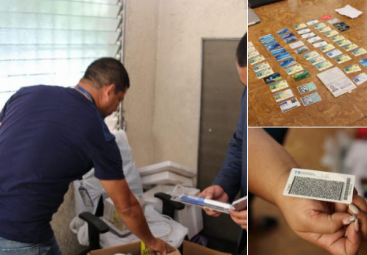 Desmantelan centro de falsificación de cédulas y tarjetas de crédito