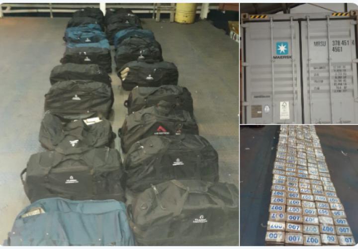 Incautan 860 paquetes de droga en un contenedor en puerto Balboa