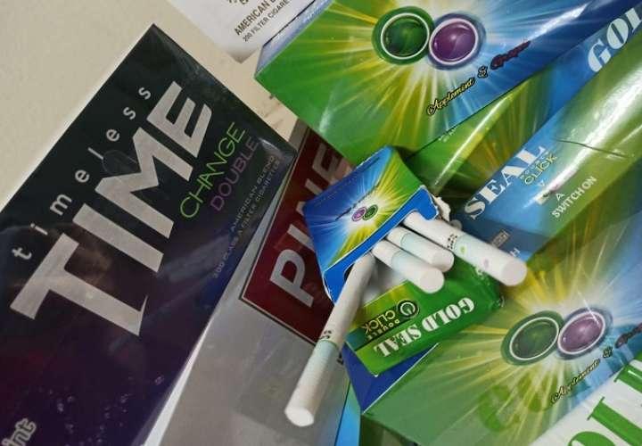 Las cajas de cigarrillos no contaban con el registro sanitario.