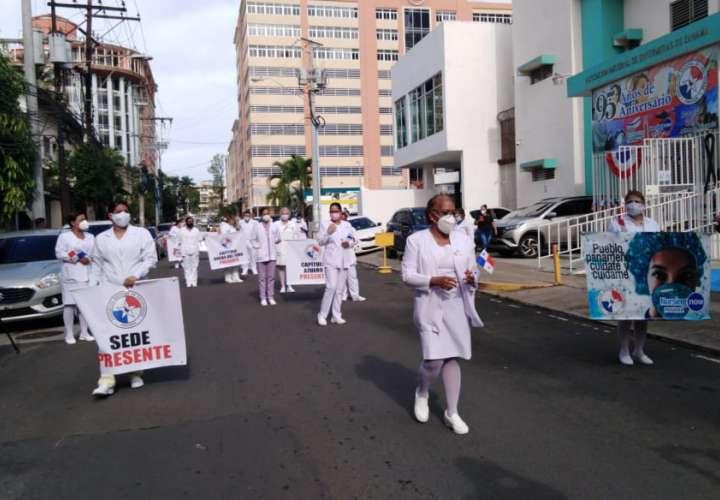 Enfermeras se marcharon sin respuesta del presidente Cortizo  [Video]