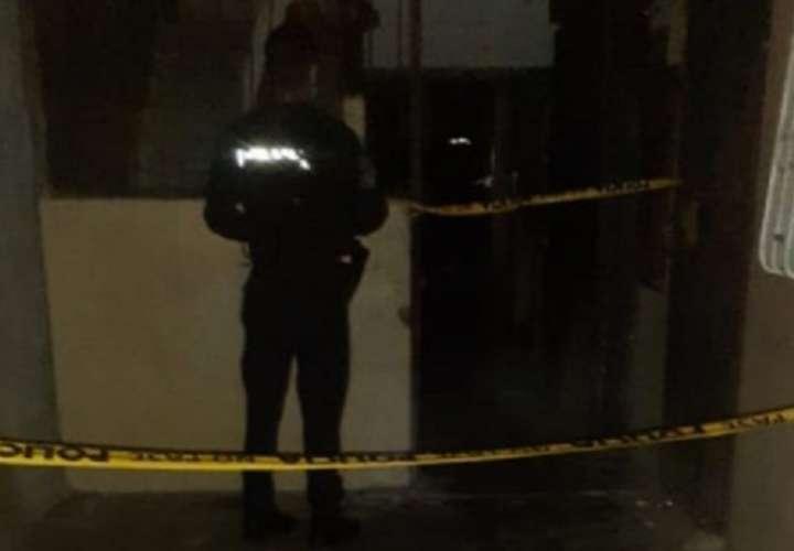 Vista general de la escena del crimen perpetrado el  6 de julio del 2020 en La Feria, colón.