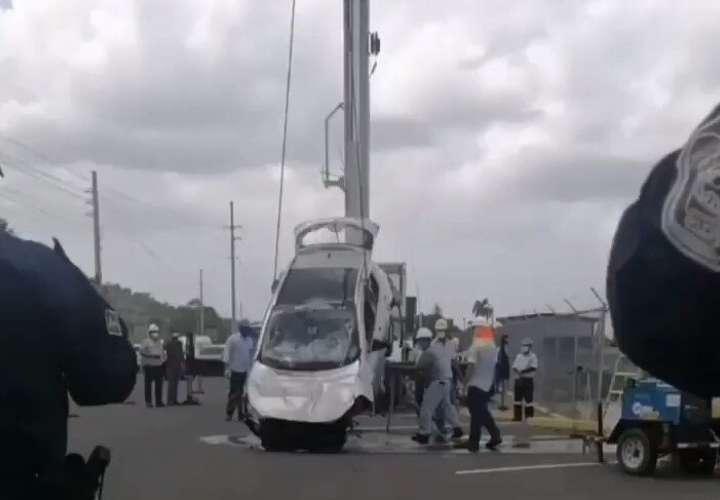 Extracción del vehículo.
