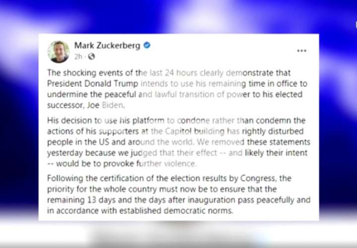El consejero delegado de Facebook, Mark Zuckerberg, anunció este jueves el bloqueo
