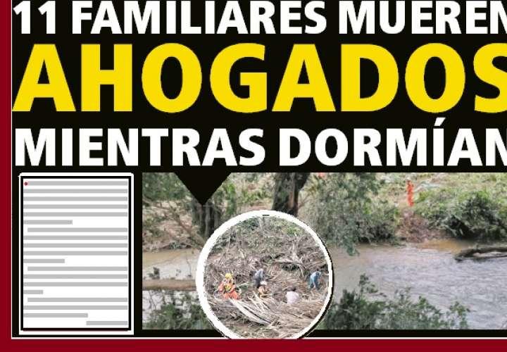 Recuperan cuerpos de 9 niños y 2 adultos, que arrastró corriente de río