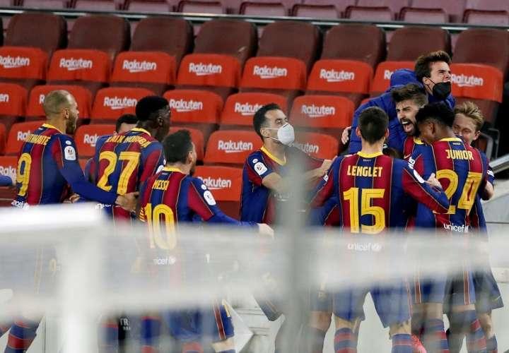 Festejo del gol de Gerard Piqué /EFE