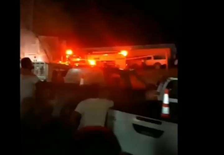 Incendio en un módulo de Minera Panamá
