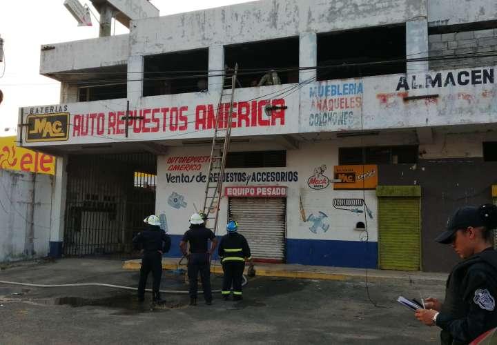 Se incendia local abandonado en La Chorrera