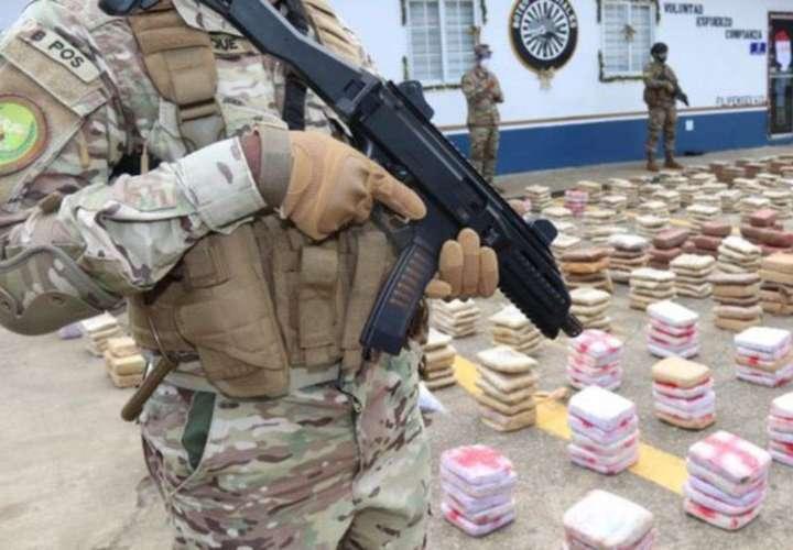 Se decomisó 80 toneladas de droga en el 2020
