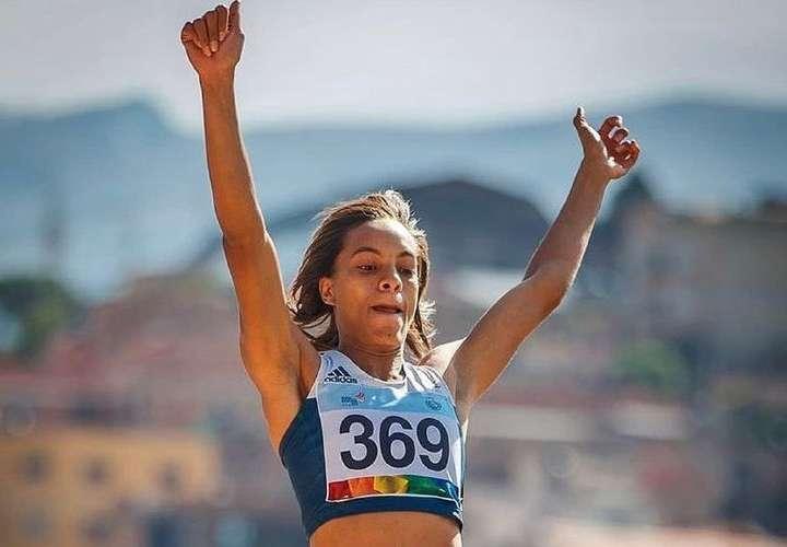 Nathalee Aranda, atleta panameña de la especialidad del salto largo. Foto: Cortesía
