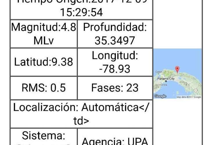 Sismo de magnitud 4.8  sin reporte de daños
