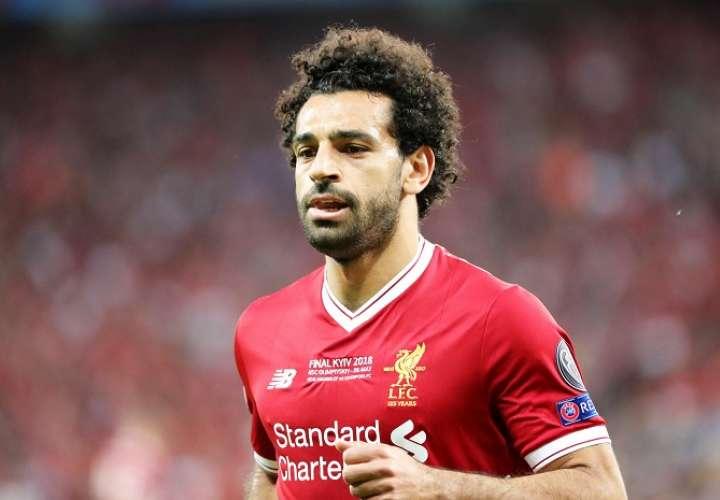 Salah en la final de Champions con el Liverpool./EFE