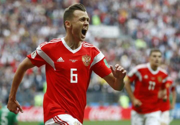 El jugador ruso Denis Cheryshev. Foto: AP