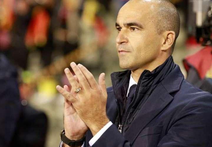 El entrenador de Bélgica Roberto Martínez. Foto:EFE