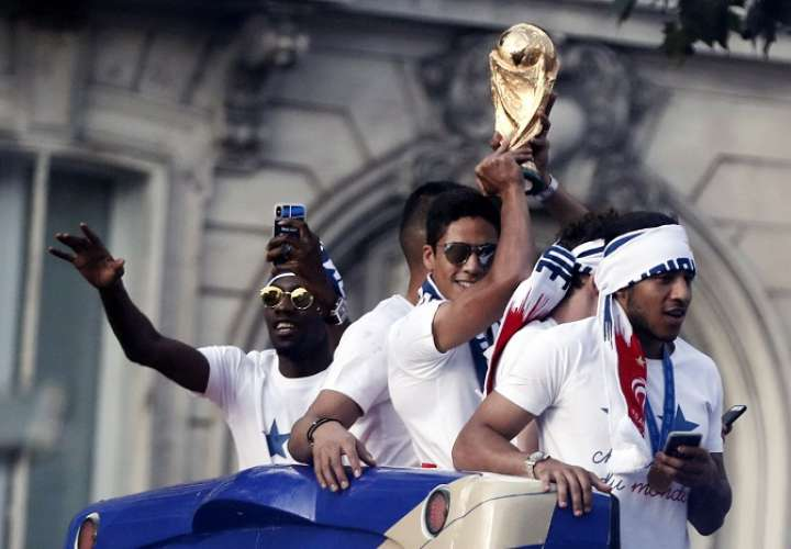 La selección de Francia ganó la Copa Mundial de Rusia 2018./ EFE