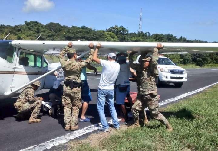 Las unidades del Senan atendieron la emergencia.