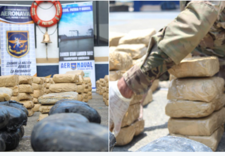 Incautan 1,192 paquetes de droga  en una lancha