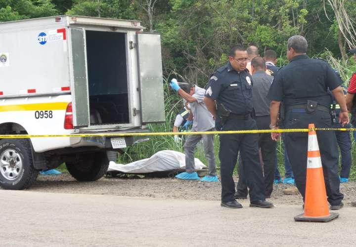 Acuchillado y quemado en vía hacia Cerro Patacón