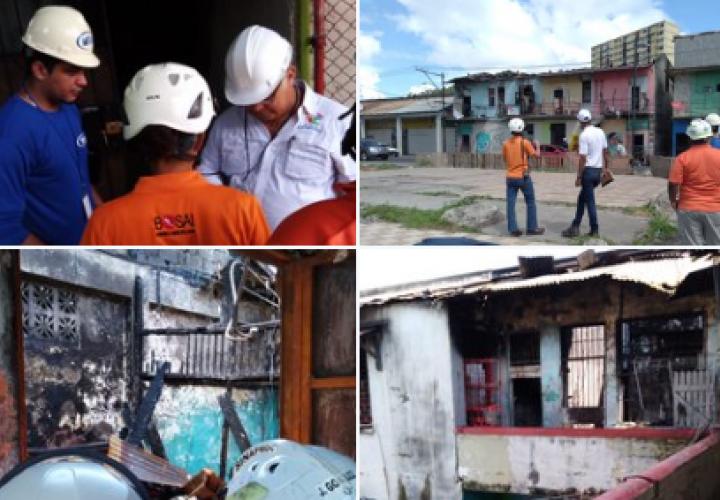 Inspeccionan inmuebles tras incendio en El Chorrillo