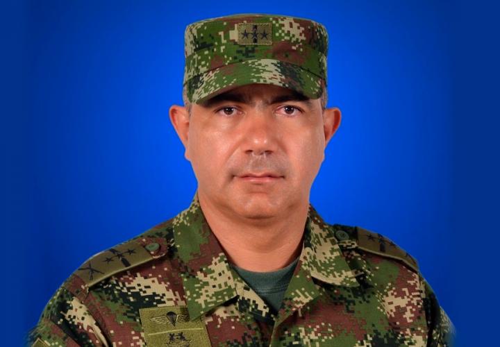 En la imagen aparece el general Oswaldo Peña Bermeo. Foto: ejercito.mil.co