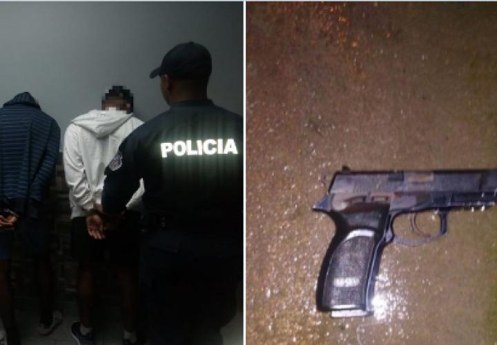 Tres hombres bajo arresto por posesión de arma en Don Bosco [Video]