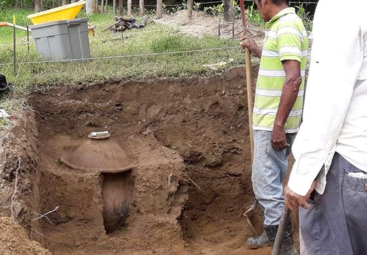Hallazgo arqueológico en Antón