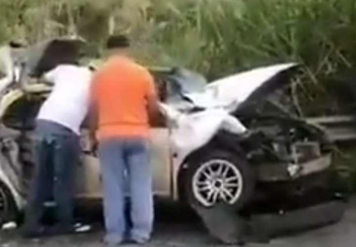 Colisión múltiple y protesta en la autopista Arraiján- La Chorrera