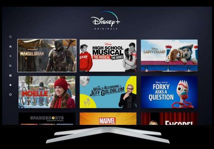Fotografía cedida por Disney+ que muestra la interfaz de su plataforma televisiva. EFE