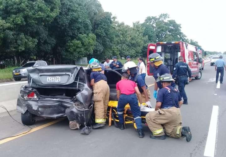 Tanganazo por detrás entre dos vehículos deja siete heridos en Veraguas