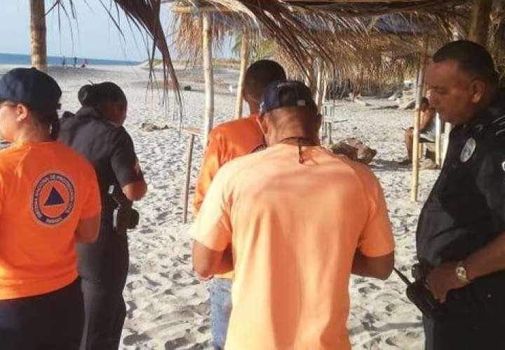 Encuentran cuerpo de bañista que se ahogó en la playa Corona