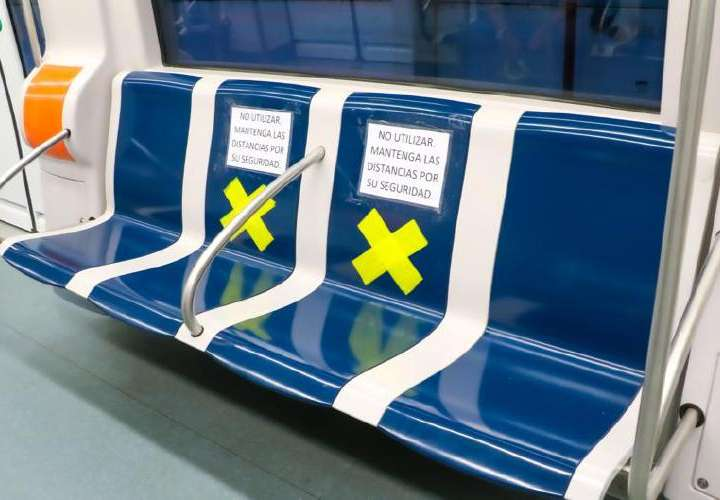 Metrobus y el Metro inhabilitan asientos por pandemia de Covid 19