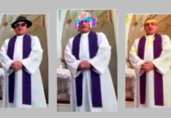 Sacerdote olvidó desactivar los filtros de Facebook durante una misa en vivo