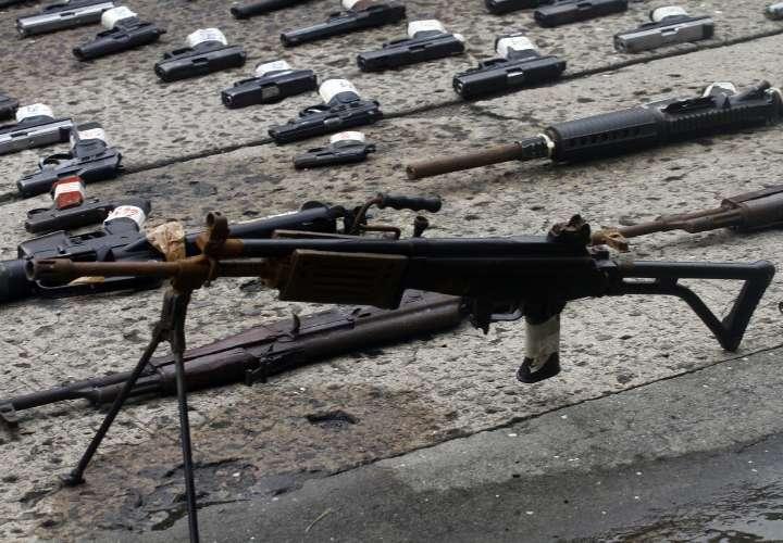 Destruyen armas utilizadas por criminales