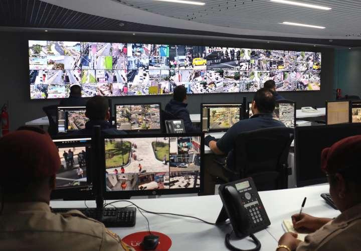 Centro de videovigilancia de la Alcaldía de Panamá. Foto/Cortesía